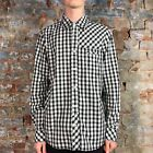 O'neill Casual Check Long Sleeve Shirt New - White - Size: S,M