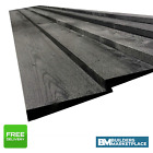 Black Painted Feather Edge Boards Fence Panels Cladding Treated Timber Fencing