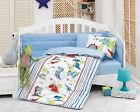 100% Cotton Crib Bedding Comforter Set for Baby Boys 6 PCS Nautical Animals Cars
