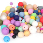 Round Silicone Beads DIY Baby Chewable Teething Necklace Jewelry Teether Making