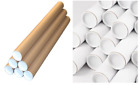 TOP QUALITY STRONG CARDBOARD POSTAL TUBES + END CAPS - THREE SIZES- 2