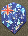 5 Packets of Brand New Designa Australian Flag dart flights + 2 sets shafts