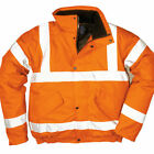 PORTWEST URT32 HI-VIS ORANGE BOMBER JACKET - NEW!
