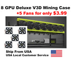Veddha 6/8 GPU Open Air Mining Case/Aluminum Frame (+$3.99 to get 5xFans Option)