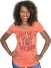 Harley-Davidson Ladies Vintage Orange Heather Short Sleeve Burnout T-Shirt