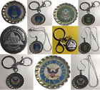 Coors Light Beer bottle cap US Navy Air Force Army Keychain Necklace Handmade
