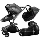 360 Degree Rotation Baby Stroller 3 in 1 with Car Seat