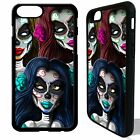 Sugar skull girls mexican tattoo rose cover case for iphone 5 6 6S 7 8 plus X
