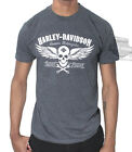 Harley-Davidson Mens Winged Skull B&S Graphite Heather Short Sleeve T-Shirt $9.99 USD