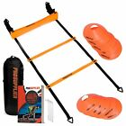 Agility Ladder and Cones 20 Feet 12 Adjustable Rungs Fitness Speed Training Equi