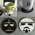 Anime Star Wars Cup Drinks Holder Coffee Felt Mat Placemat Pads Round Tableware $0.99 CAD on eBay