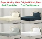 FITTED SHEET 400TC LUXURY 100% EGYPTIAN COTTON BED SHEET SINGLE DOUBLE KING SIZE image
