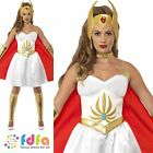 She Ra Latex Chest He Man Licensed 1980s Womens Ladies Fancy Dress Costume