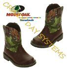 Mossy Oak Camo Cowboy Boots Western Side Closure Sz 4T - 6T Garanimals Toddler