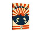 Detroit Tigers Vintage Baseball Canvas on Ebay