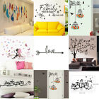 DIY Removable Art Vinyl Quote Wall Sticker Decal Mural Bathroom Home Room Decor