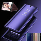 Luxury Slim Touch Mirror View Flip Holder Stand Case Smart Cover For Smart Phone