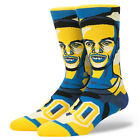 STANCE Stephen Curry Mosaic Crew Socks sz L Large (9-12) Golden State Warriors