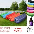 Outdoor Lazy Inflatable Bed Couch Air Sleeping Sofa Lounger Bag Camping Bed