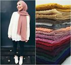 MAXI Soft Bubble Chiffon Plain Pleating Corrugated Scarf Hijab 180 x 75cm