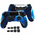 Anti-slip Silicone Protector Skin Case w/Thumb Grips for PS4/Slim/Pro Controller
