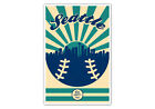 Seattle Mariners Vintage Baseball Poster on Ebay