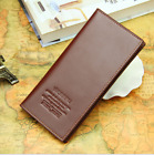 Men's Long Leather Wallet Pockets Money Purse ID Credit Card Clutch Bifold Black
