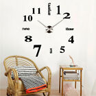 3D Large Number Mirror Wall Clock  Sticker Decor for Home Office Kids Room DIY