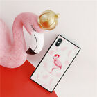 Fashion Cute Cartoon Flamingo Tempered Glass Case Cover for iPhone X 8 7 6S Plus