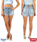 Vintage Levis Shorts High Waisted Ripped Frayed Hotpants Grade A 6-18
