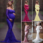 Pregnant Womens Maxi Dress Lace Gown Maternity Photography Maternity Photo Props