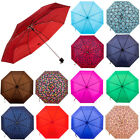 "Внешний вид - Folding Rain 42"" Umbrella Solid Color or Print Compact Slim Mini Portable Sleeve"