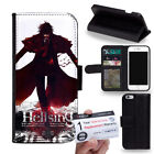PIN-1 Anime Hellsing A Phone Wallet Flip Case Cover A for Samsung