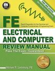 Fe Electrical and Computer Review Manual by Michael Lindeburg Pe PASS EXAM Book