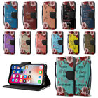 """For Apple iPhone X 5.8"""" Bible Verses ID Card Wallet Cover Pouch Case Stand + Pen"""