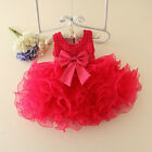 Toddler Baby Pageant Tutu Dresses Flower Girls Princess Bow Dress Wedding Party