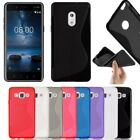 S-Line Soft Silicon Gel Case For Phone Nokia 3 5 6 & 8 + Free Screen Protector