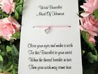 Hen Party Wish Bracelet Message Friendship Gift Pink Anklet Bride Bridesmaid*