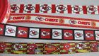 "Kansas City Chiefs 7/8"" Grosgrain Ribbon By the Yard $0.99 USD on eBay"