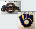 Milwaukee Brewers Iron On Patch Choice of Style Free Shipping in Envelope Mail