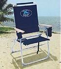 NEW!! Tommy Bahama 7 Positions Hi-Boy Beach Chair Seat Storage Pouch Folds Flat