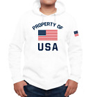 FSD Property of USA American Flag Sporty and Athletic Hoodies For Men