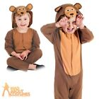 Toddler Bear Costume Three Bears FairyTale Book Week Day Fancy Dress Outfit Kids