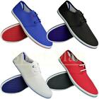Mens Tokyo Tigers Lace Up Canvas Pumps Low Trainers Plimsolls Flat Shoes Size