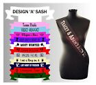 Sten Do Custom Made Sash Sashes Joint Hen Stag Party Bride Groom Fun Accessories