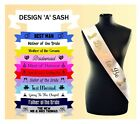 Custom Made Personalised Wedding Stain Sash Sashes Printed Any Name Role Text