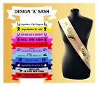 Good Luck Personalised Sashes Exams Driving Test New Job Any Text Custom Made