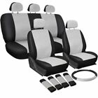 Breathable Faux Leather Car Seat Cushion Non-Rolling Up Vehicle Car Seat Cover M