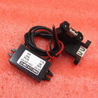 DC-DC Converter Module 12V to 5V Double USB Output Power Suppy Adapter 3A