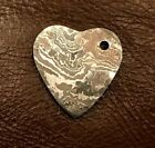 Handmade Pattern Welded Damascus Steel Heart Pendant-Key Ring